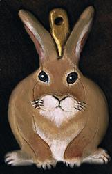 Art: Rabbit Ornament by Artist Kimberly Anne Bailey