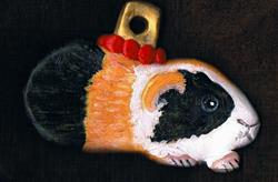 Art: Little Guinea Pig Ornament by Artist Kimberly Anne Bailey