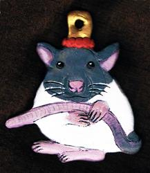 Art: Pet Rat Ornament by Artist Kimberly Anne Bailey