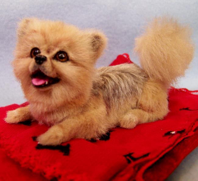 Art: Toto, Custom Pomeranian by Artist Camille Meeker Turner