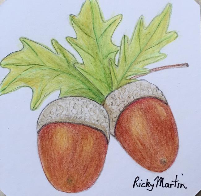 Art: Acorns by Artist Ulrike 'Ricky' Martin