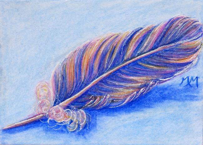 Art: Angel Feather  (SOLD) by Artist Monique Morin Matson