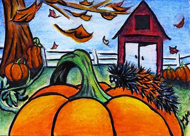Art: Autumn Woolies  (SOLD) by Artist Monique Morin Matson