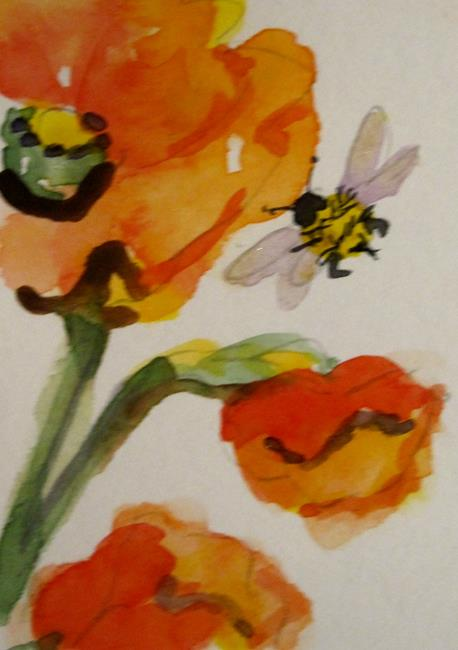 Art: Poppy and Bee by Artist Delilah Smith