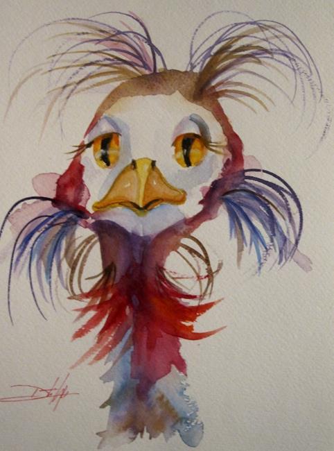 Art: Wild Ostrich by Artist Delilah Smith