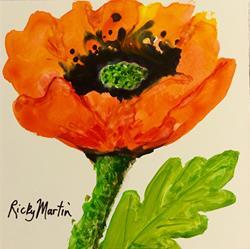 Art: Poppy by Artist Ulrike 'Ricky' Martin
