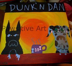 Art: Dunkin Danes by Artist Rachel Allen