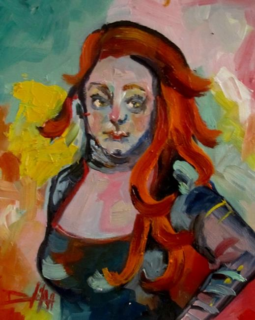 Art: Red Hair by Artist Delilah Smith