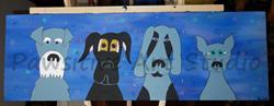 Art: Black and Blue by Artist Rachel Allen