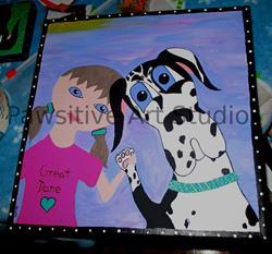 Art: Best Friends by Artist Rachel Allen