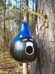 Art: Cat Gourd by Artist Rachel Allen