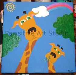 Art: Giraffe Danes by Artist Rachel Allen
