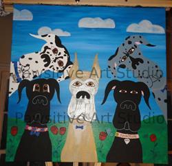 Art: Great Dane commission by Artist Rachel Allen