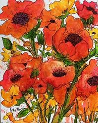 Art: Poppies by Artist Ulrike 'Ricky' Martin