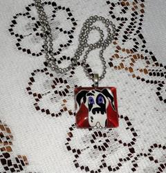 Art: Harlequin Great Dane Pendant by Artist Rachel Allen
