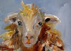Art: Shaggy Sheep No.4 by Artist Delilah Smith