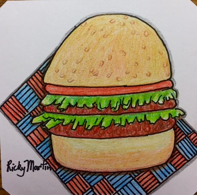 Art: Burger by Artist Ulrike 'Ricky' Martin