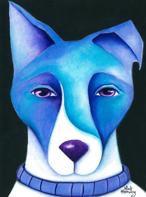 Art: BLUE DOG by Artist Deb Harvey