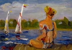 Art: Bock on the Bay-sold by Artist Delilah Smith