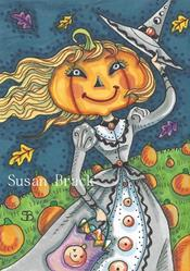 Art: PUMPKIN PATCH WITCH by Artist Susan Brack