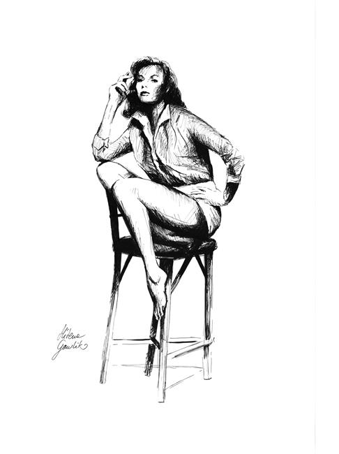 Art: Woman on a Chair by Artist Milena Gawlik