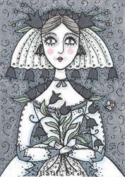 Art: BLACK TULIP BRIDE by Artist Susan Brack