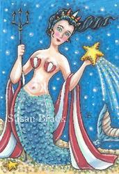 Art: SEA STARS AND LIBERTY by Artist Susan Brack