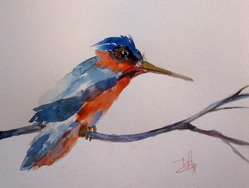Art: Kingfisher by Artist Delilah Smith
