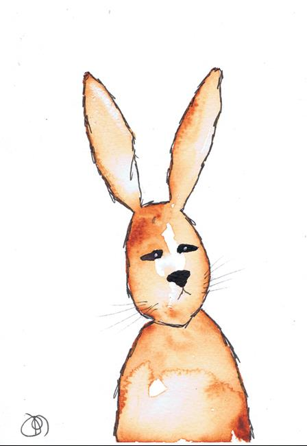 Art: RABBIT h3101 by Artist Dawn Barker