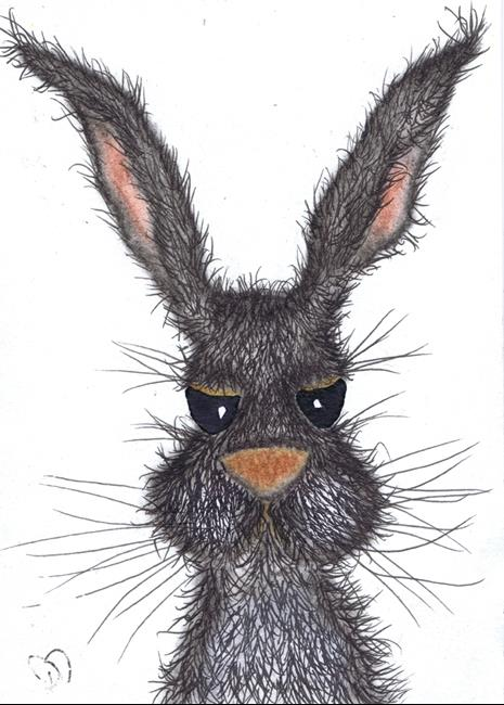 Art: BAD HARE DAY! h3102 by Artist Dawn Barker