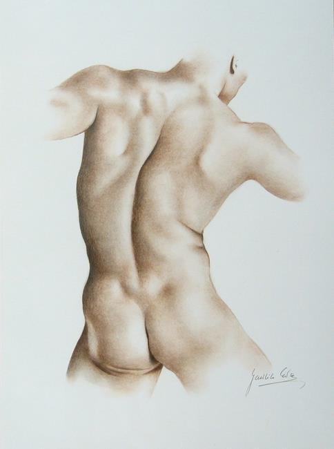 Art: Male Torso by Artist Ewa Kienko Gawlik