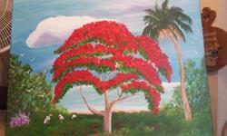 Art: Ponciana Tree by Artist christi lynn schwartzkopf