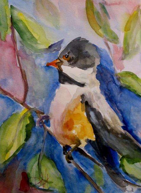 Art: Bird in Tree by Artist Delilah Smith