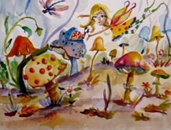 Art: Fairy Garden by Artist Delilah Smith