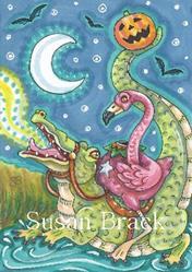 Art: FLAMINGO OF SLEEPY HOLLOW by Artist Susan Brack