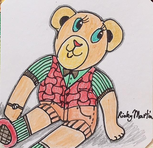 Art: Happy Teddy by Artist Ulrike 'Ricky' Martin