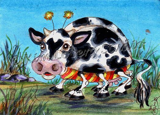 Art: Moo Cow Lady Bug by Artist Kim Loberg
