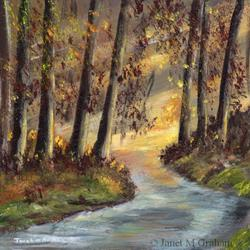 Art: Autumn Morning by Artist Janet M Graham