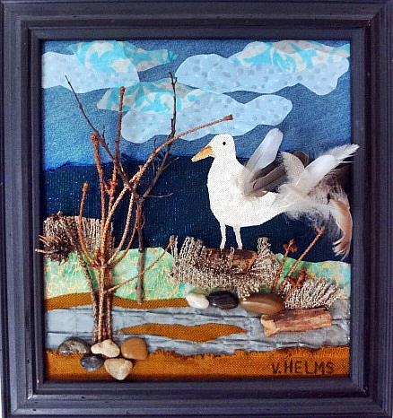 Art: Seagull Rising by Artist Vicky Helms