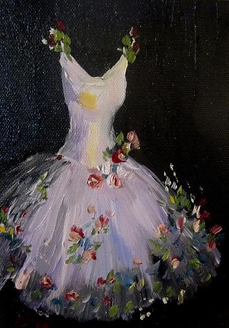 Art: White Dress by Artist Delilah Smith