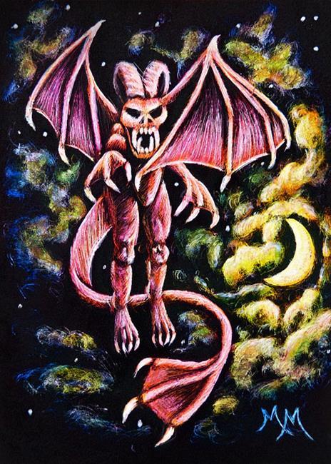 Art: Demon  (SOLD) by Artist Monique Morin Matson