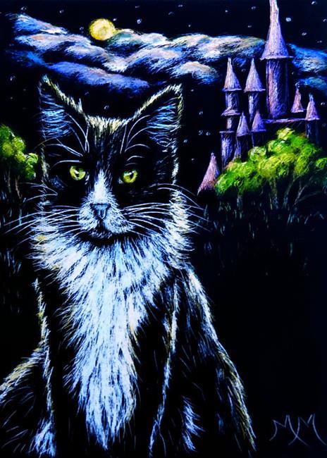 Art: Guarding My Castle  (SOLD) by Artist Monique Morin Matson