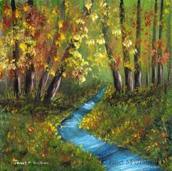 Art: Autumn River by Artist Janet M Graham