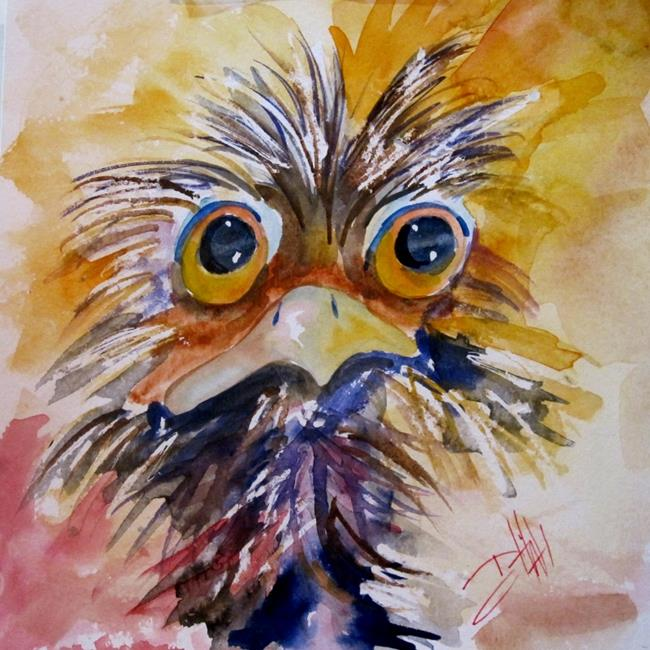 Art: Big Eyed Ostrich by Artist Delilah Smith