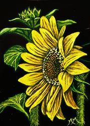 Art: Sunflower  (SOLD) by Artist Monique Morin Matson