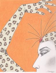 Art: THE GIRL IN THE LEOPARD COSTUME by Artist Jayne Somogy