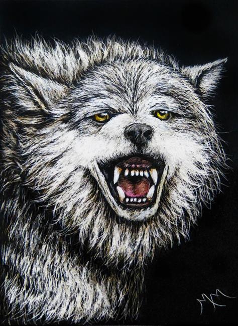 Art: Wolf II  (SOLD) by Artist Monique Morin Matson