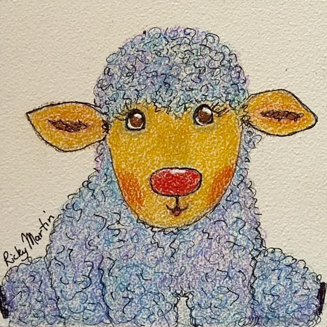 Art: Little Lamb by Artist Ulrike 'Ricky' Martin