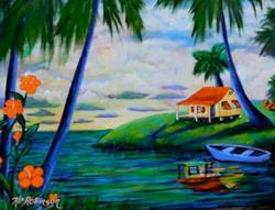 Art: Paradise Island Home #1456 by Artist Ke Robinson