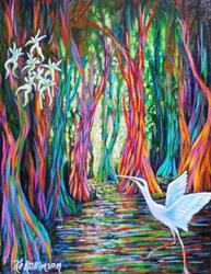 Art: 1454 Rainbow Eucalyptus Trees by Artist Ke Robinson